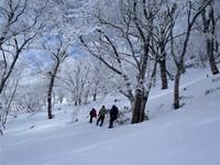 深雪の三室山を周回