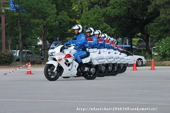 秋の全国交通安全運動出発式訓練の様子