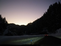 宍粟 夕暮れの雪山