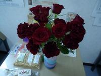 誕生日には花。