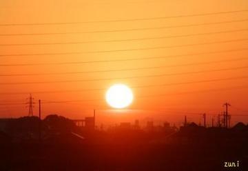 地上写真で、だるま太陽はむりか~<br /> でも、今日のお顔はメチャいけてますね~